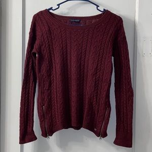 American Eagle Maroon Sweater - Size Small